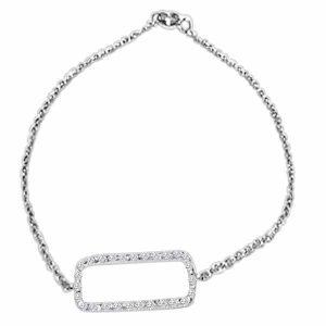 Pulsera oro blanco y diamantes modelo boda o compromiso