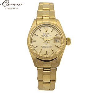 Rolex Oyster Date Just 18 k Gold -Carrera Collection